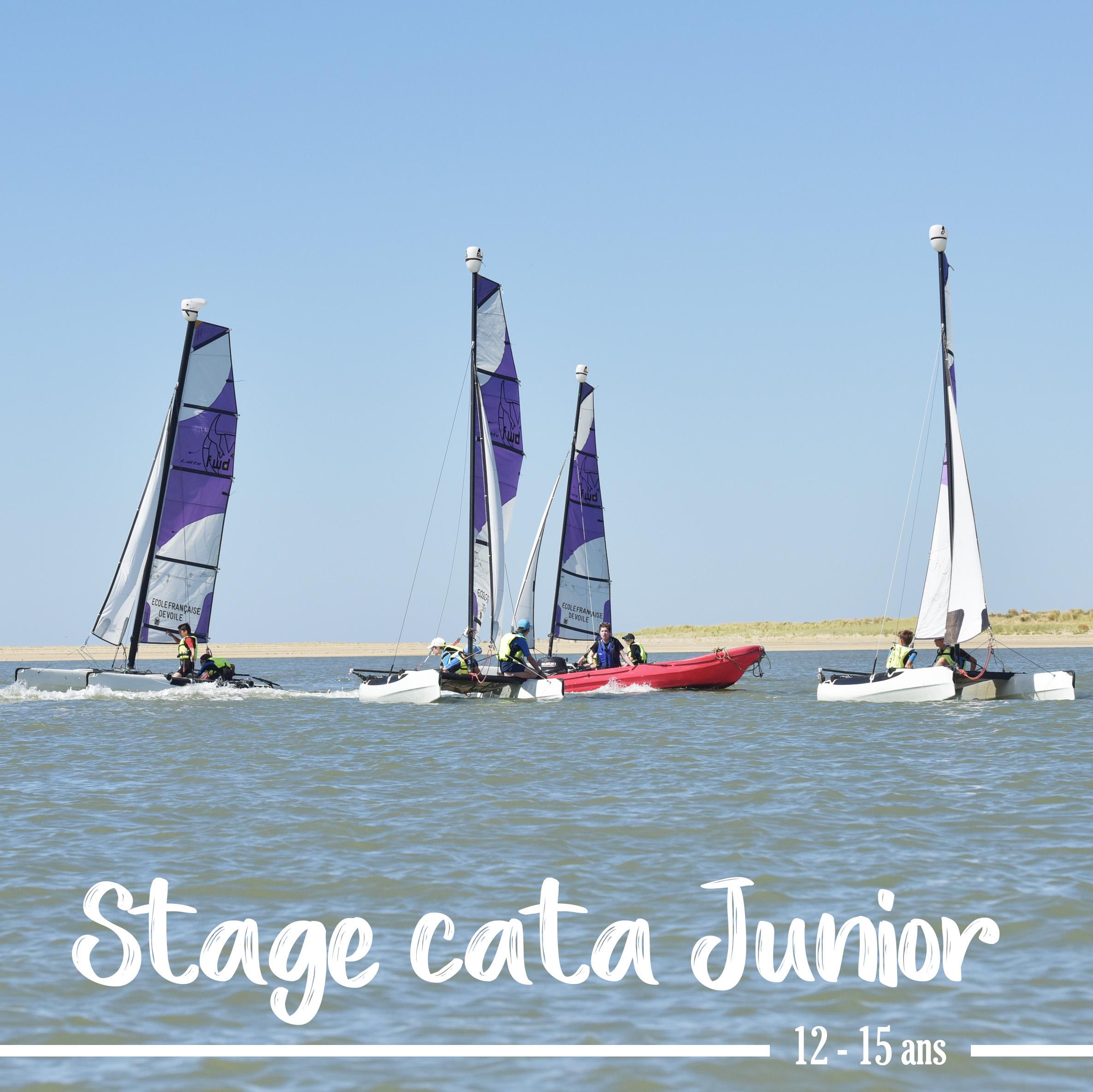 Photo du Offre de Stage de Catamaran 40 jours, du 12 juillet au 20 août 2021 - stage catamaran junior proposé par BASE NAUTIQUE LA PALMYRE affilié à la Fédération Française de Voile