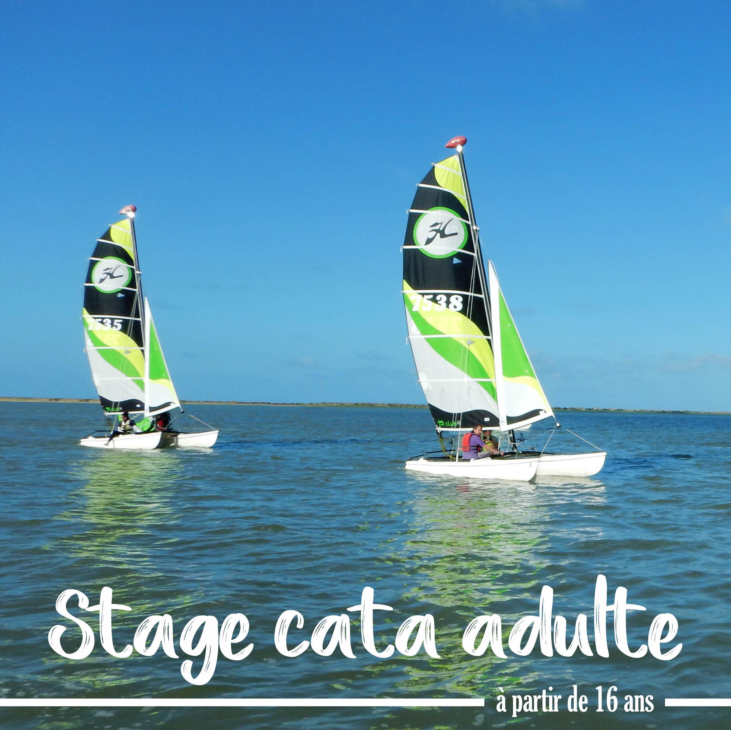 Photo du Offre de Stage de Catamaran 40 jours, du 12 juillet au 20 août 2021 - stage catamaran adulte proposé par BASE NAUTIQUE LA PALMYRE affilié à la Fédération Française de Voile