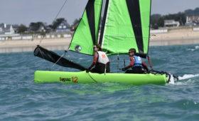 Photo du Offre de Stage de Catamaran 54 jours, du 5 juillet au 27 août 2021 - Stages Catamaran Topaz 12 proposé par CENTRE REGIONAL DE NAUTISME DE GRANVILLE affilié à la Fédération Française de Voile