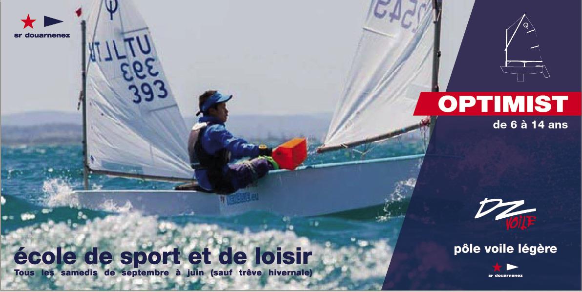 Photo du Offre de Stage de Dériveur Solitaire 5 septembre 2021 - Ecole de sport - Optimist proposé par S R DE DOUARNENEZ affilié à la Fédération Française de Voile