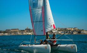 Photo du Offre de Stage de Catamaran 54 jours, du 5 juillet au 27 août 2021 - Stages Catamaran Newcat 14/ Hobie Cat T1 proposé par CENTRE REGIONAL DE NAUTISME DE GRANVILLE affilié à la Fédération Française de Voile