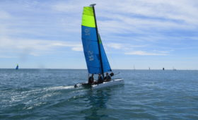 Photo du Offre de Stage de Catamaran 54 jours, du 5 juillet au 27 août 2021 - Stages Catamaran RS 16 proposé par CENTRE REGIONAL DE NAUTISME DE GRANVILLE affilié à la Fédération Française de Voile