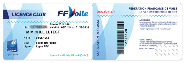 Licence Club FFVoile